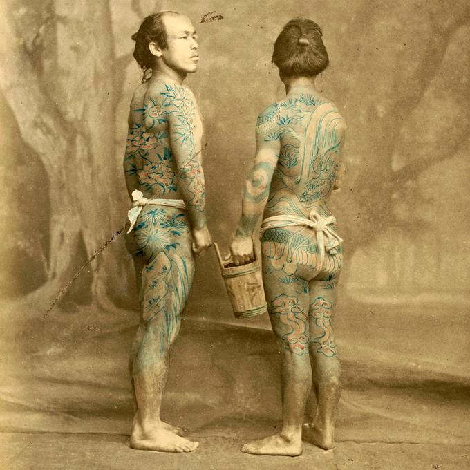 Japanische Tattoos von 1870